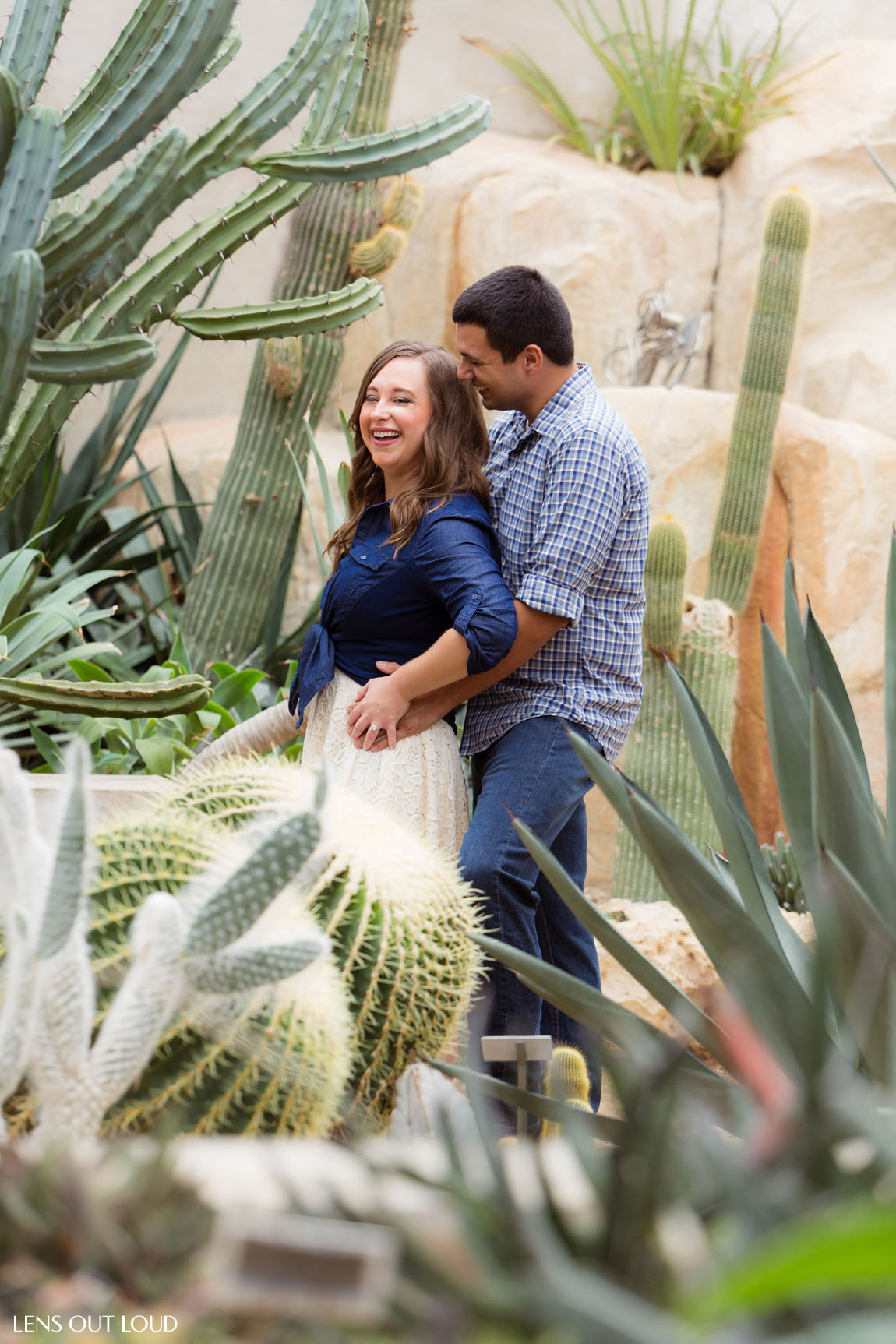 San Antonio Engagement Portrait Location Botanical Gardens