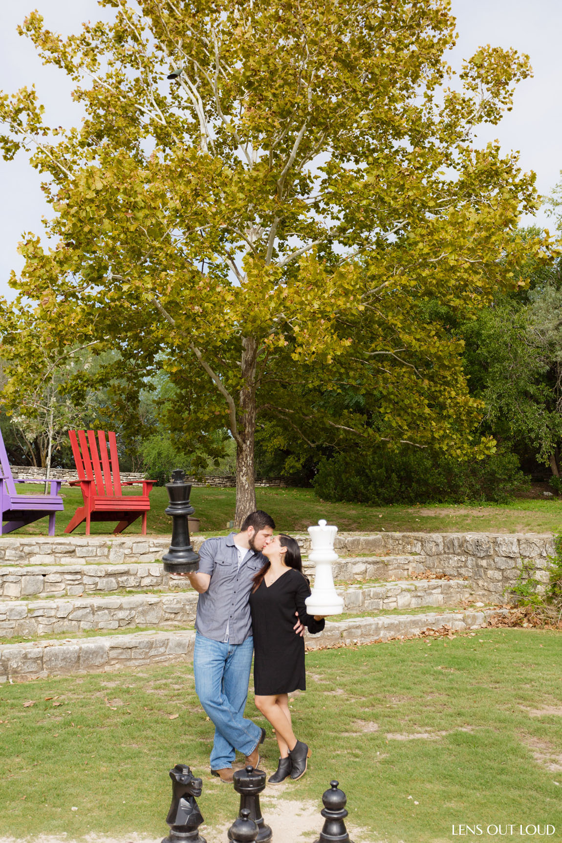 San Antonio Engagement Portraits Botanical Gardens