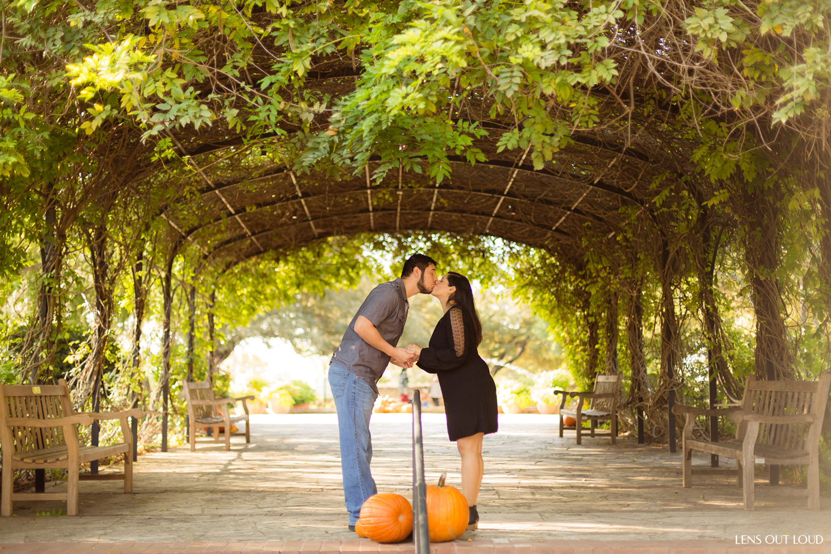 San antonio botanical gardens engagement photos julie - San antonio botanical garden wedding ...