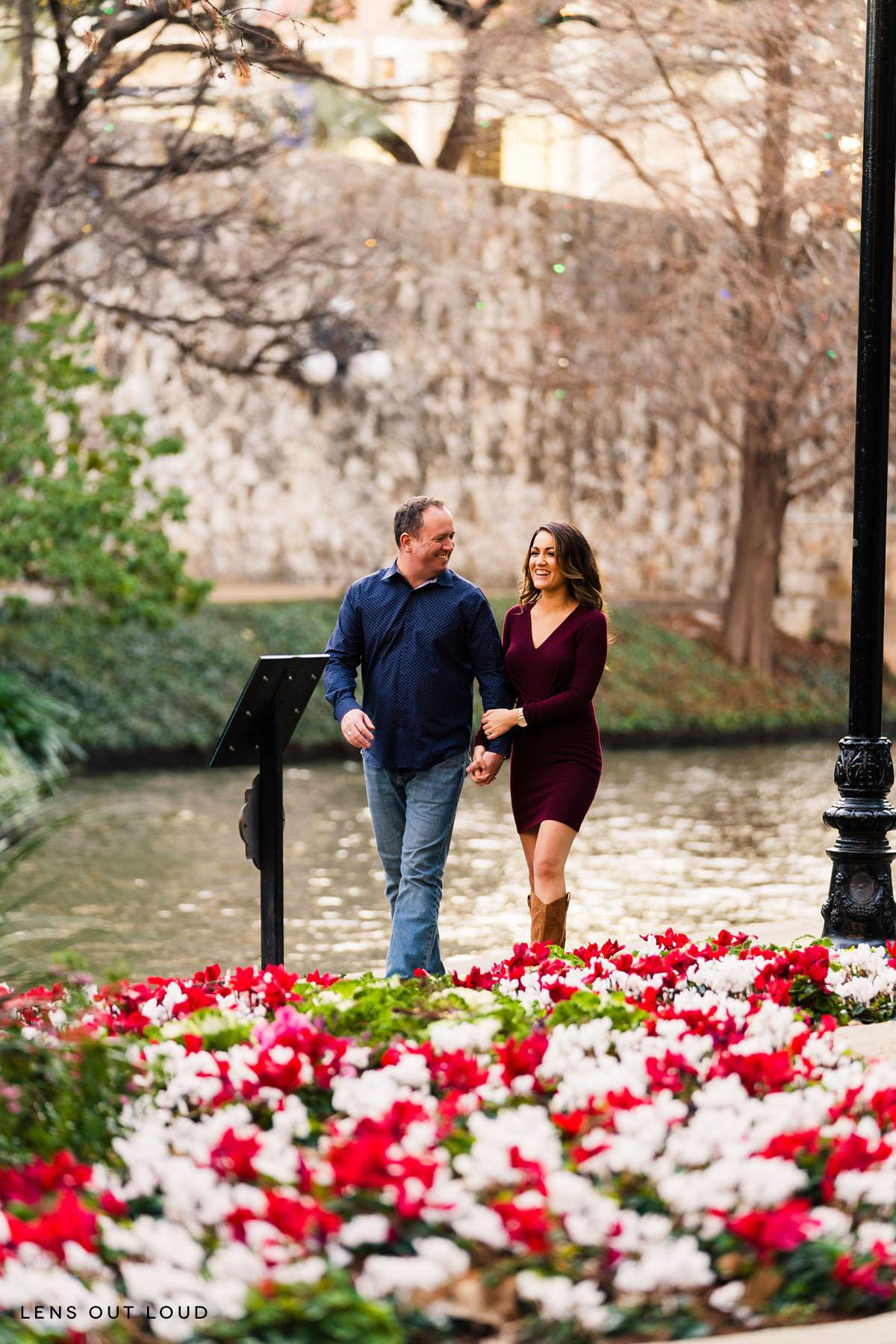 San Antonio Riverwalk Engagement Portrait Photos
